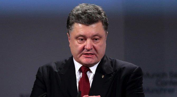 Порошенко и Тилърсън обсъдиха по телефона ситуацията в Източна Украйна