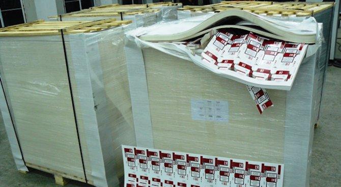 Задържаха 5 тона картон, предвиден за цигарени кутии
