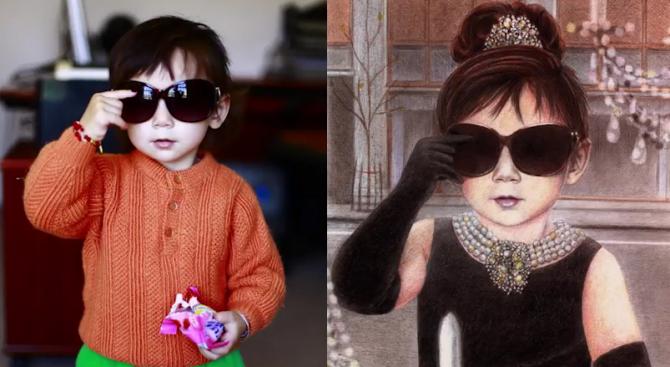 Момиченце вдъхнови хиляди художници по целия свят (видео)