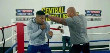 Антъни Джошуа обяснява на Скалата как ще повали Кличко (видео)