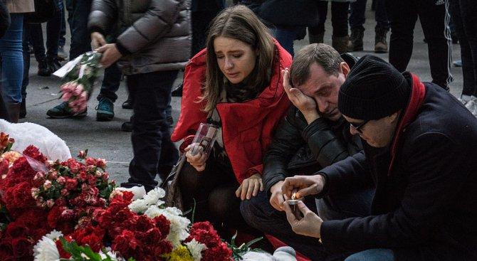 Санкт Петербург скърби за жертвите