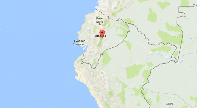 Земетресение предизвика паника в столицата на Еквадор