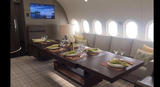 Вижте най - луксозния самолет в света (снимки+видео)