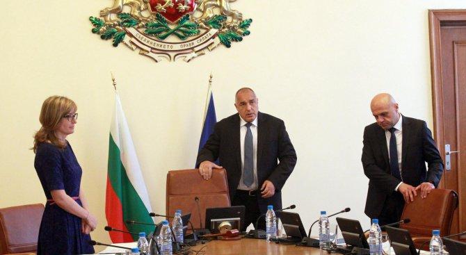 Борисов назначи осем заместник-министри в пет министерства