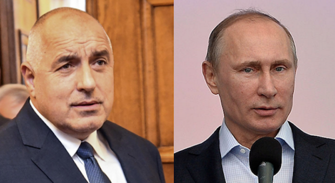 Борисов разговаря по телефона с Путин