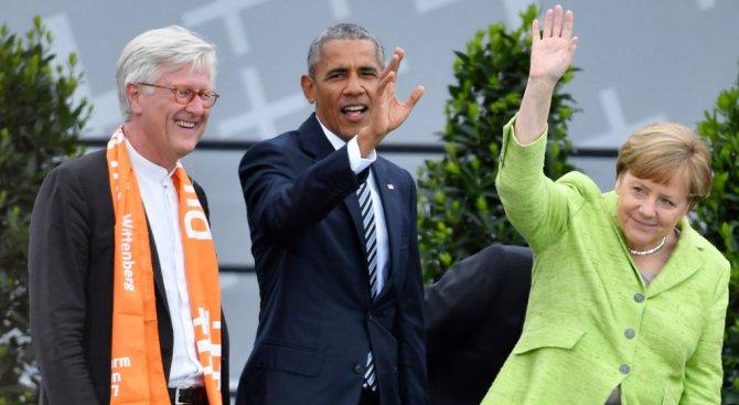 Обама посрещнат като рок звезда в Берлин (видео+галерия)