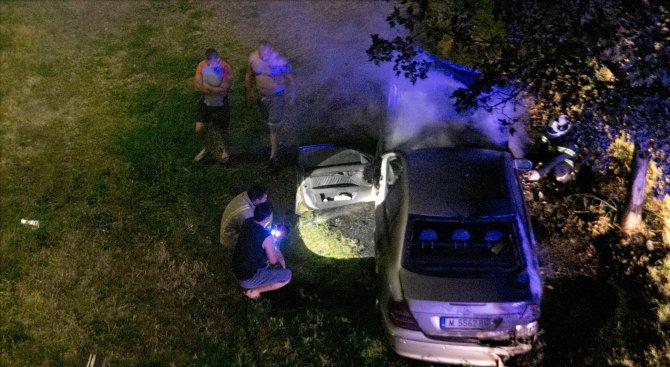 Изгоря лек автомобил в Монтана (снимки)