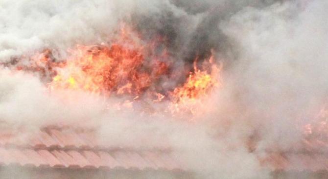 Магазин горя при пожар в Благоевград