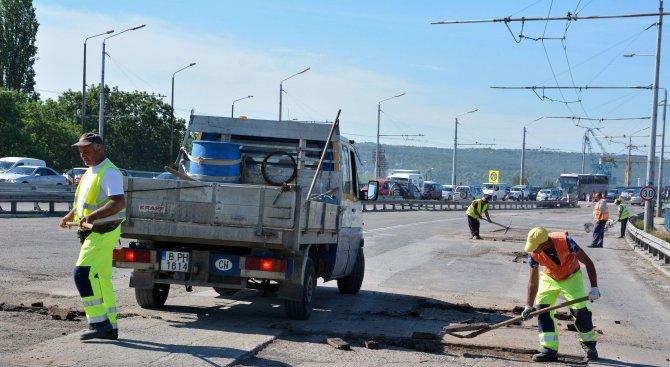 Предсрочно приключи ремонтът на Аспаруховия мост, утре пускат движението по него