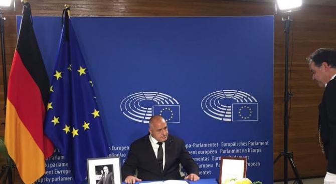 Борисов: Хелмут Кол бе един голям европеец! Светла му памет! (снимки)