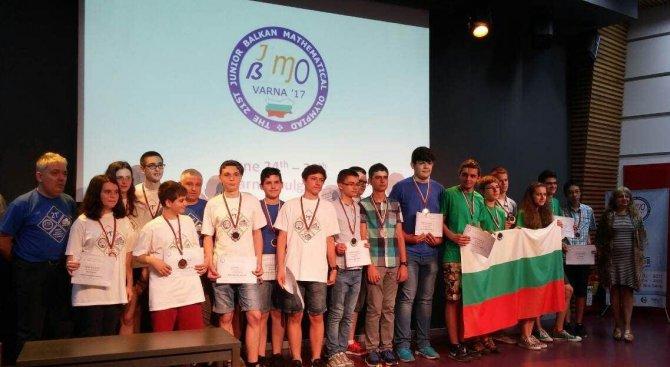 Български ученици с 18 медала от Балканиада по математика