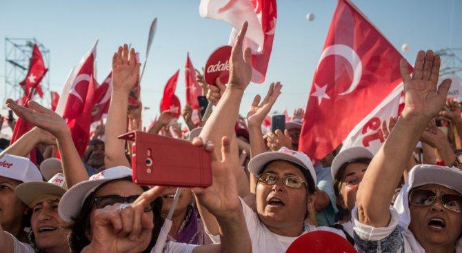 Стотици хиляди изминаха Похода на справедливостта до Истанбул (снимки)