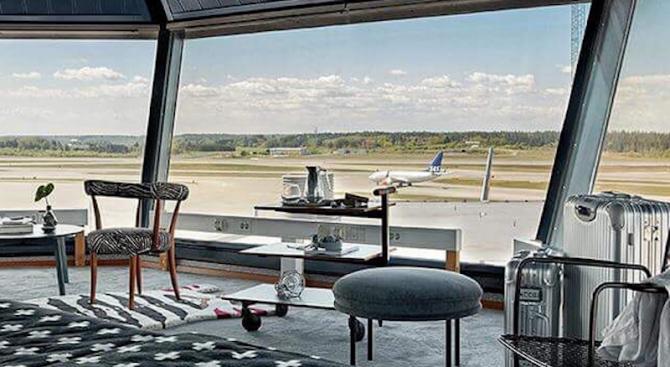 Невероятен апартамент в контролната кула на стокхолмското летище