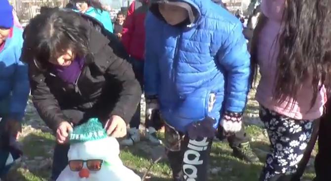 Сняг покри столицата на Чили (видео)