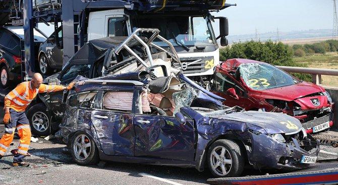 11 коли се удариха във Франция. 17 ранени (видео)