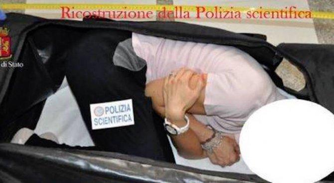 Арестуваха поляк, отвлякъл и напъхал в куфар британска манекенка (снимки)