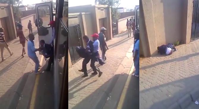 Изритаха дете със специални нужди от автобус (видео)