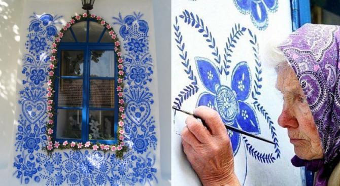 90-годишна от Чехия превръща селото си в галерия (видео)