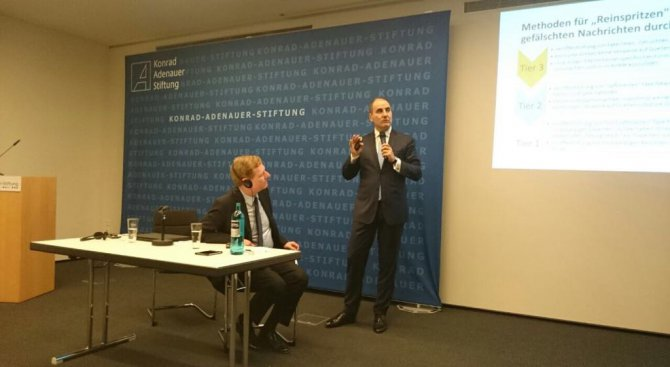 Цветан Цветанов представи влиянието на фалшивите новини по време на предизборни кампании