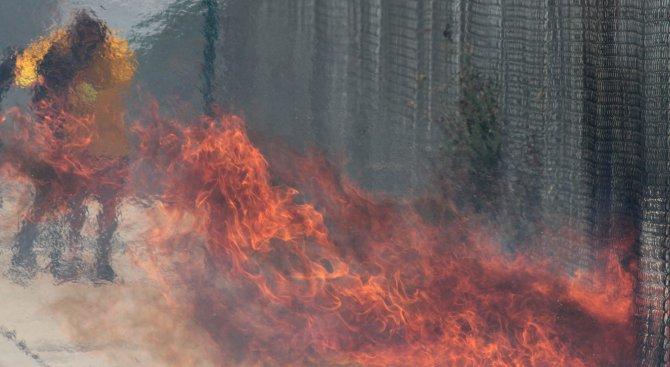 20-метрови огнени езици се издигнаха край Москва (видео)