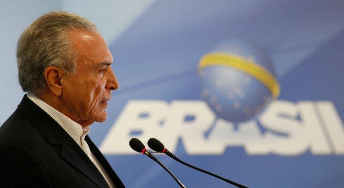 Президентът на Бразилия бе приет в болница