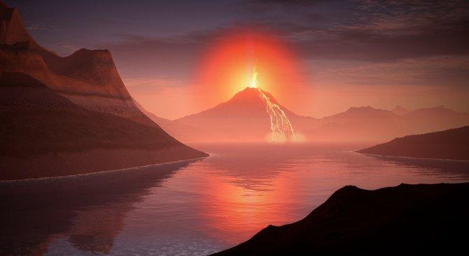 Топенето на ледената покривка следствие на вулканични изригвания?