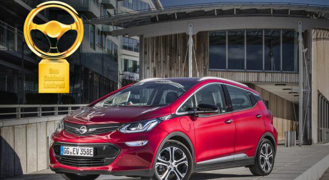 "Opel Ampera-e спечели наградата ""Златен волан 2017"""