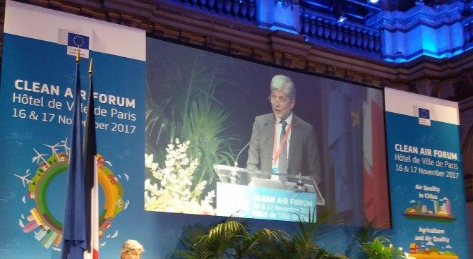 Министър Димов в Париж: Качеството на въздуха ще е приоритет на Европредседателството