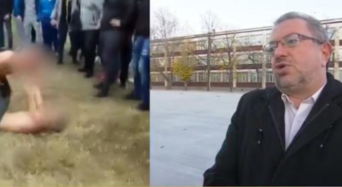Ученици от Пловдив организираха бой пред публика (видео)
