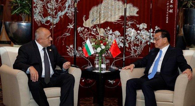 Борисов обсъди с Ли Къцян възможностите за сътрудничество между България и Китай