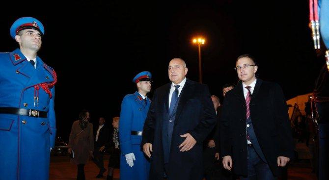 Бойко Борисов пристигна в Белград (снимки+видео)