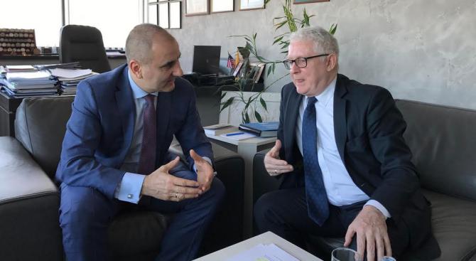 Цветан Цветанов проведе работна среща с ирландския посланик