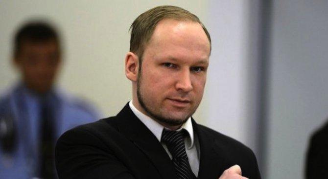 Брайвик за пръв път призна, че се покайва за 77-те убийства