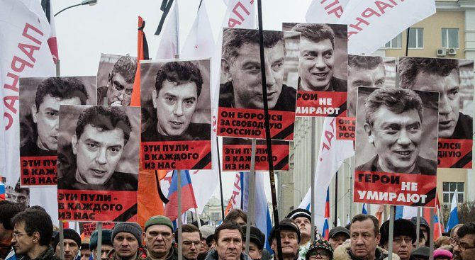 В Москва се проведе шествие в памет на убития през 2015 г. руски опозиционер Борис Немцов