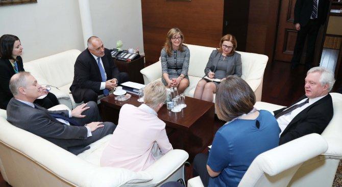 Бойко Борисов проведе среща с британския министър по Брекзит