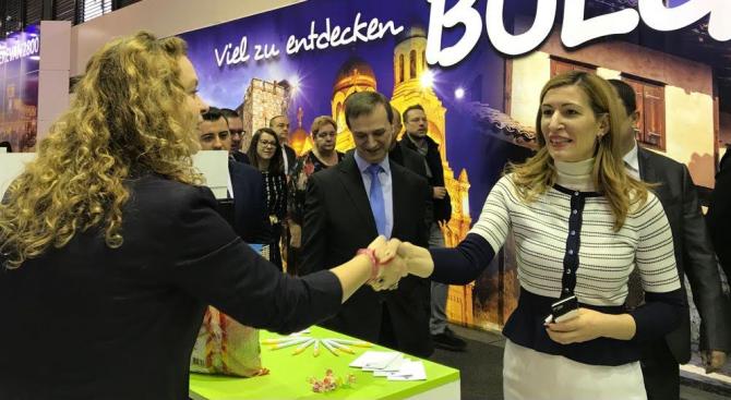 Министър Ангелкова откри българския щанд на най-значимия туристически форум ITB Берлин
