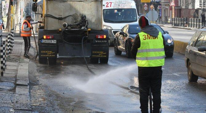 Мият улици в София