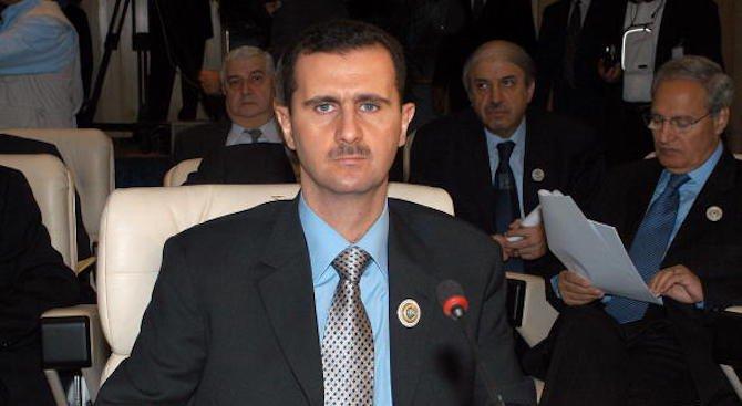Башар Асад посети сирийските войници в Източна Гута