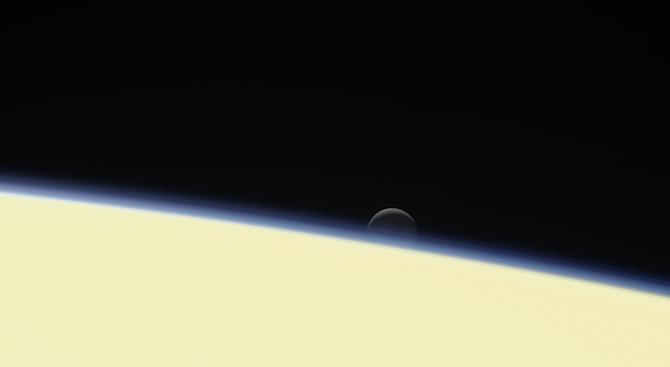 НАСА публикува изображение на сатурновата луна Диона
