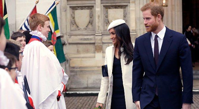 Принц Хари и Меган Маркъл поканиха 600 гости на сватбата си (снимка)