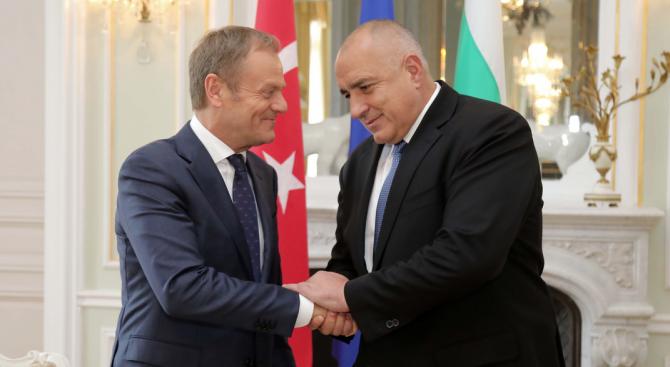 Борисов и Туск обсъдиха очакванията си от срещата ЕС - Турция (галерия)