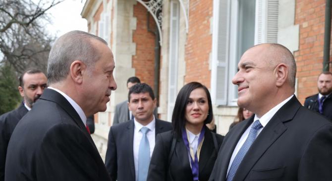 Борисов посрещна Ердоган в двореца Евксиноград (снимки)