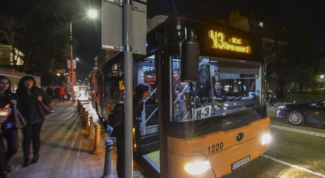Тръгна нощният градски транспорт в София (снимки)