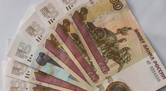 Рублата загуби над 3% от стойността си