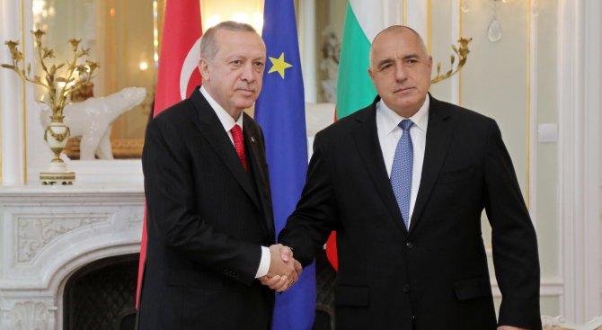 Ердоган благодари на Борисов за лидерската срещата ЕС-Турция във Варна