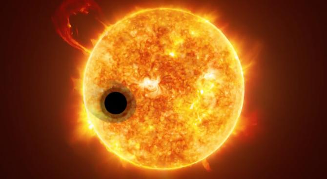 Учени откриха хелий в атмосферата на екзопланета (видео)