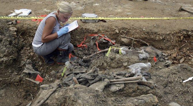 Археолози откриха детски скелет със стрела в гърдите