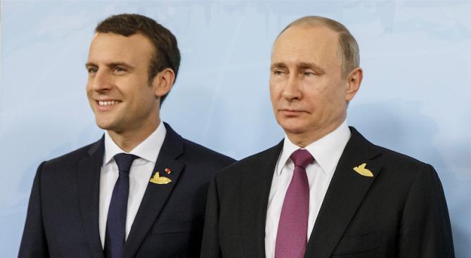 Путин и Макрон обсъдиха по телефона ситуацията в Сирия и иранското ядрено споразумение