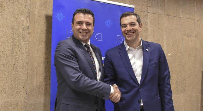 Заев след срещата с Ципрас: Има прогрес по отношение на името на страната ни