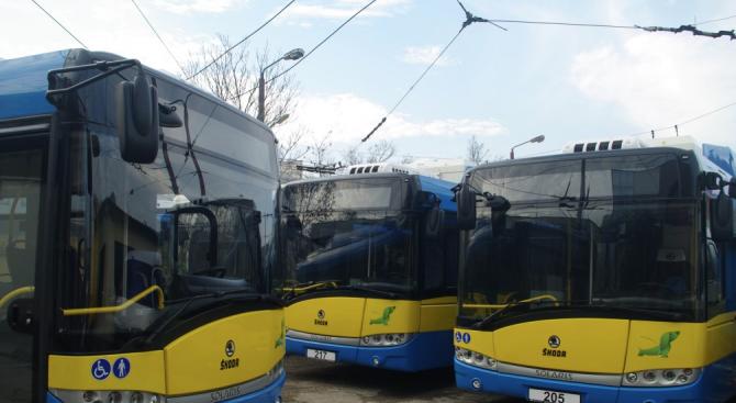 Плевен от август ще разполага с 14 нови тролейбуса за градския транспорт